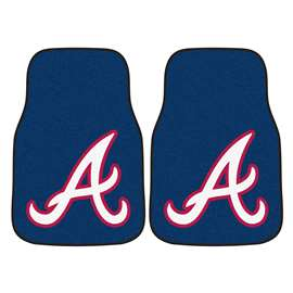 "MLB - Atlanta Braves 2-pc Carpeted Car Mats 17""x27""  2-pc Carpet Car Mat Set"