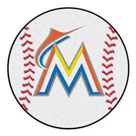 "MLB - Miami Marlins Baseball Mat 27"" diameter   Baseball Mat"