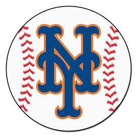 "MLB - New York Mets Baseball Mat 27"" diameter   Baseball Mat"