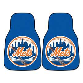 "MLB - New York Mets 2-pc Carpeted Car Mats 17""x27""  2-pc Carpet Car Mat Set"