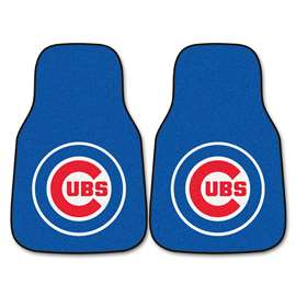 "MLB - Chicago Cubs 2-pc Carpeted Car Mats 17""x27""  2-pc Carpet Car Mat Set"
