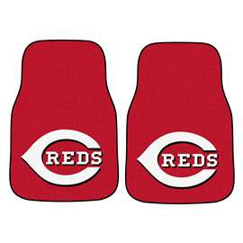 "MLB - Cincinnati Reds 2-pc Carpeted Car Mats 17""x27""  2-pc Carpet Car Mat Set"