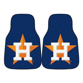 "MLB - Houston Astros 2-pc Carpeted Car Mats 17""x27""  2-pc Carpet Car Mat Set"