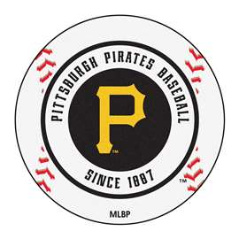 "MLB - Pittsburgh Pirates Baseball Mat 27"" diameter   Baseball Mat"