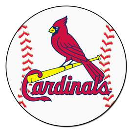 "MLB - St. Louis Cardinals Baseball Mat 27"" diameter   Baseball Mat"