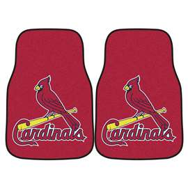 "MLB - St. Louis Cardinals 2-pc Carpeted Car Mats 17""x27""  2-pc Carpet Car Mat Set"