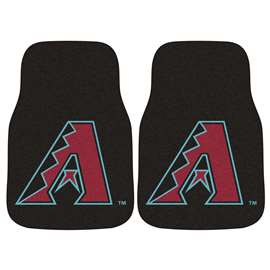 "MLB - Arizona Diamondbacks 2-pc Carpeted Car Mats 17""x27""  2-pc Carpet Car Mat Set"