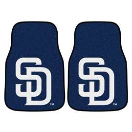 "MLB - San Diego Padres 2-pc Carpeted Car Mats 17""x27""  2-pc Carpet Car Mat Set"