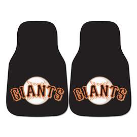 "MLB - San Francisco Giants 2-pc Carpeted Car Mats 17""x27""  2-pc Carpet Car Mat Set"