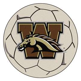 Western Michigan University  Soccer Ball Mat, Rug , Carpet
