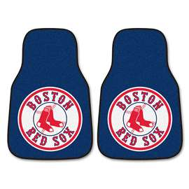 "MLB - Boston Red Sox 2-pc Carpeted Car Mats 17""x27""  2-pc Carpet Car Mat Set"