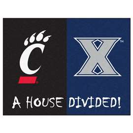 House Divided: Xavier / Cincinnati  House Divided Mat Rug, Carpet, Mats