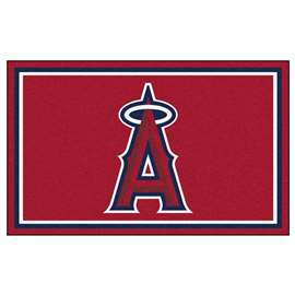 MLB - Los Angeles Angels 4'x6' Rug  4x6 Rug