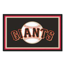 MLB - San Francisco Giants 4'x6' Rug  4x6 Rug