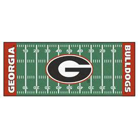 University of Georgia  Football Field Runner Mat Rug Carpet