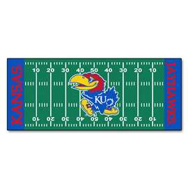 University of Kansas  Football Field Runner Mat Rug Carpet