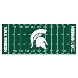 Michigan State University  Football Field Runner Mat Rug Carpet