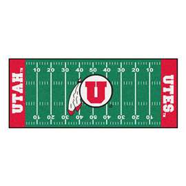 University of Utah  Football Field Runner Mat Rug Carpet