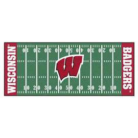 University of Wisconsin  Football Field Runner Mat Rug Carpet