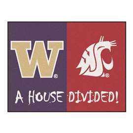 House Divided: Washington / Washington State  House Divided Mat Rug, Carpet, Mats