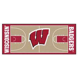 University of Wisconsin  NCAA Basketball Runner Mat, Carpet, Rug