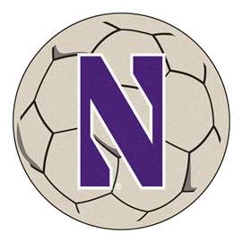 Northwestern University  Soccer Ball Mat, Rug , Carpet