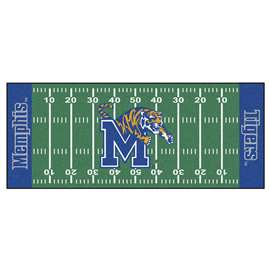 University of Memphis  Football Field Runner Mat Rug Carpet