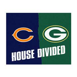 NFL House Divided - Bears / PackersFloor Rug Mats