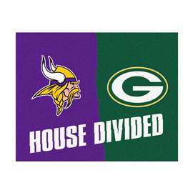 NFL House Divided - Vikings / PackersFloor Rug Mats