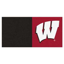 University of Wisconsin  Team Carpet Tiles Rug, Carpet, Mats