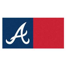 "MLB - Atlanta Braves 18""x18"" Carpet Tiles  Team Carpet Tiles"