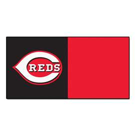 "MLB - Cincinnati Reds 18""x18"" Carpet Tiles  Team Carpet Tiles"