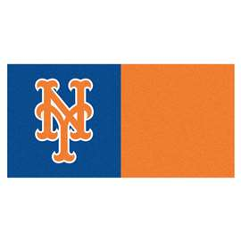 "MLB - New York Mets 18""x18"" Carpet Tiles  Team Carpet Tiles"