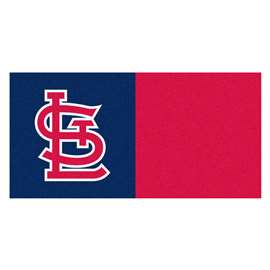 "MLB - St. Louis Cardinals 18""x18"" Carpet Tiles  Team Carpet Tiles"