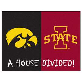 House Divided: Iowa / Iowa State  House Divided Mat Rug, Carpet, Mats