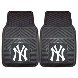 "MLB - New York Yankees 2-pc Vinyl Car Mats 17""x27""  2-pc Vinyl Car Mat Set"
