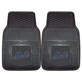 "MLB - New York Mets 2-pc Vinyl Car Mats 17""x27""  2-pc Vinyl Car Mat Set"