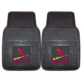 "MLB - St. Louis Cardinals 2-pc Vinyl Car Mats 17""x27""  2-pc Vinyl Car Mat Set"