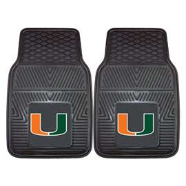 University of Miami  2-pc Vinyl Car Mat Set
