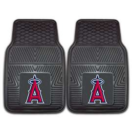 "MLB - Los Angeles Angels 2-pc Vinyl Car Mats 17""x27""  2-pc Vinyl Car Mat Set"