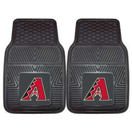 "MLB - Arizona Diamondbacks 2-pc Vinyl Car Mats 17""x27""  2-pc Vinyl Car Mat Set"