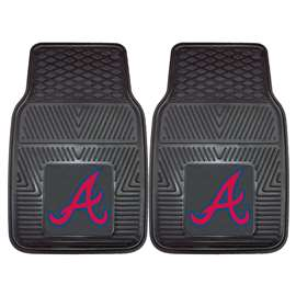 "MLB - Atlanta Braves 2-pc Vinyl Car Mats 17""x27""  2-pc Vinyl Car Mat Set"