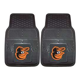 "MLB - Baltimore Orioles 2-pc Vinyl Car Mats 17""x27""  2-pc Vinyl Car Mat Set"