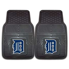 "MLB - Detroit Tigers 2-pc Vinyl Car Mats 17""x27""  2-pc Vinyl Car Mat Set"