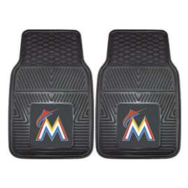 "MLB - Miami Marlins 2-pc Vinyl Car Mats 17""x27""  2-pc Vinyl Car Mat Set"
