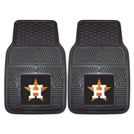 "MLB - Houston Astros 2-pc Vinyl Car Mats 17""x27""  2-pc Vinyl Car Mat Set"