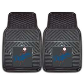 "MLB - Los Angeles Dodgers 2-pc Vinyl Car Mats 17""x27""  2-pc Vinyl Car Mat Set"