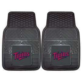 "MLB - Minnesota Twins 2-pc Vinyl Car Mats 17""x27""  2-pc Vinyl Car Mat Set"