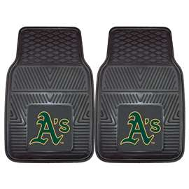 "MLB - Oakland Athletics 2-pc Vinyl Car Mats 17""x27""  2-pc Vinyl Car Mat Set"