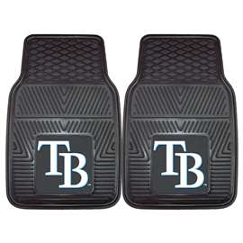 "MLB - Tampa Bay Rays 2-pc Vinyl Car Mats 17""x27""  2-pc Vinyl Car Mat Set"